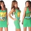 Mini vestidos sexys de los Power Rangers y las Tortugas Ninja para tu novia geek