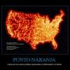 PUNTO NARANJA – Cada uno de estos puntitos representa un McDonald's en EEUU